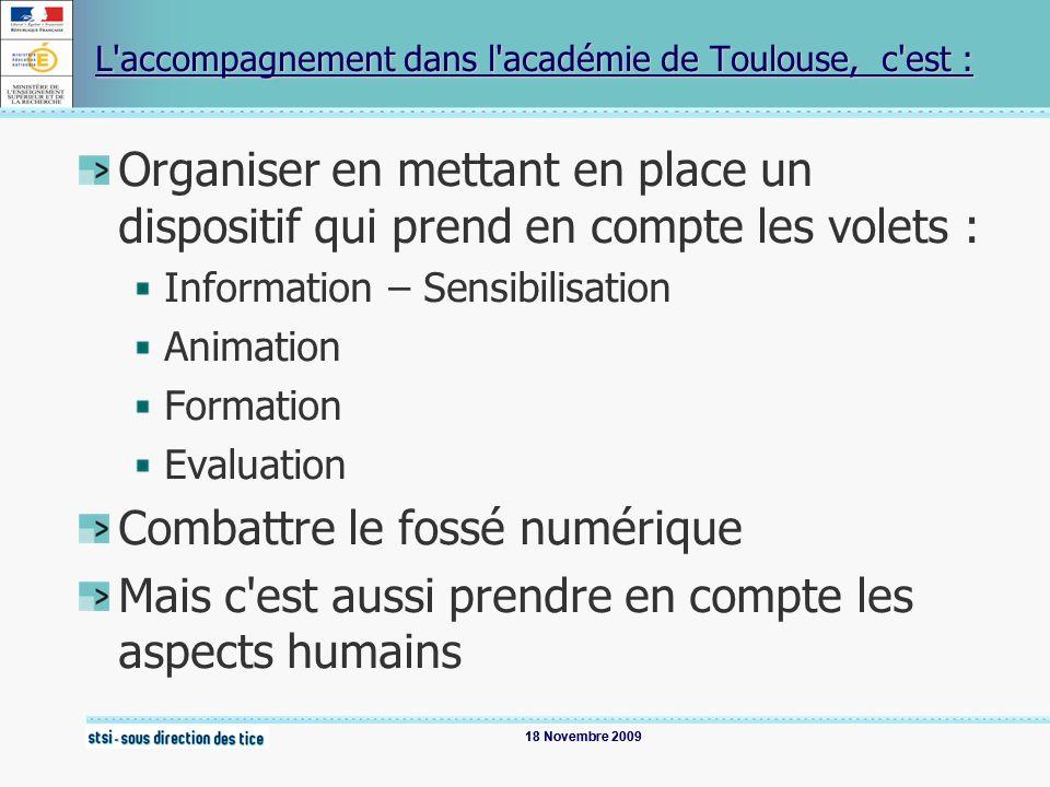 L accompagnement dans l académie de Toulouse, c est :