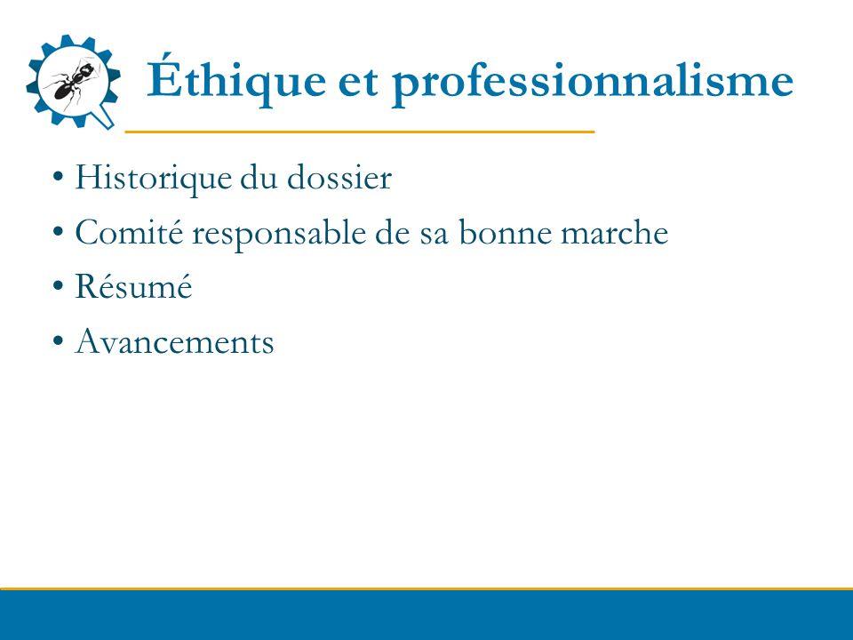 Éthique et professionnalisme