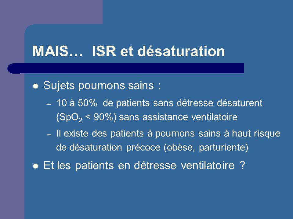 MAIS… ISR et désaturation