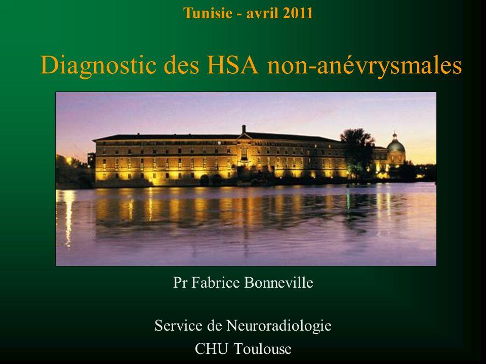 Diagnostic des HSA non-anévrysmales