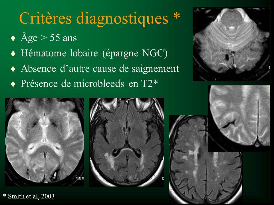 Critères diagnostiques *