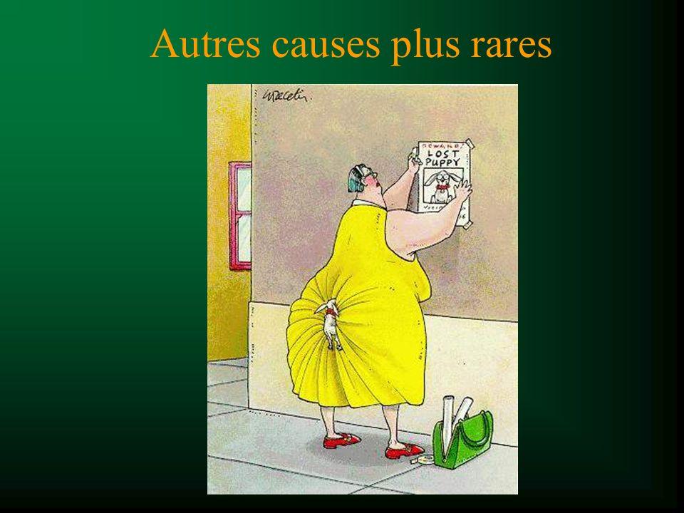 Autres causes plus rares