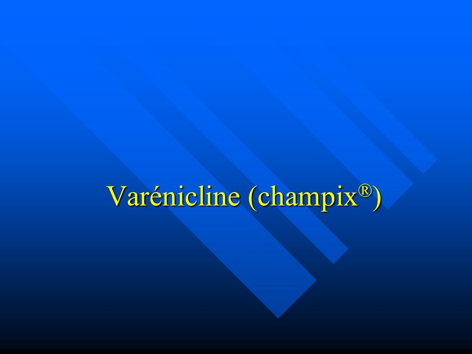 Varénicline (champix®)