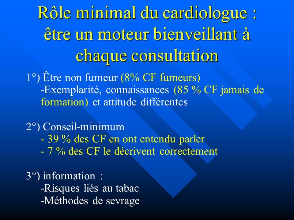 Rôle minimal du cardiologue : être un moteur bienveillant à chaque consultation