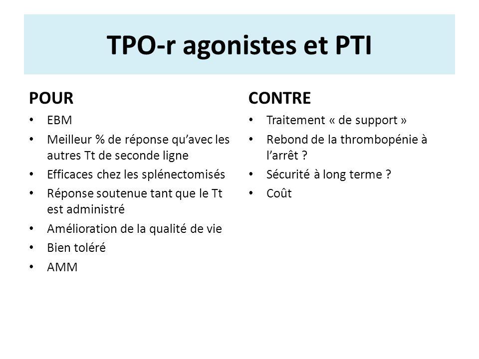 TPO-r agonistes et PTI POUR CONTRE EBM