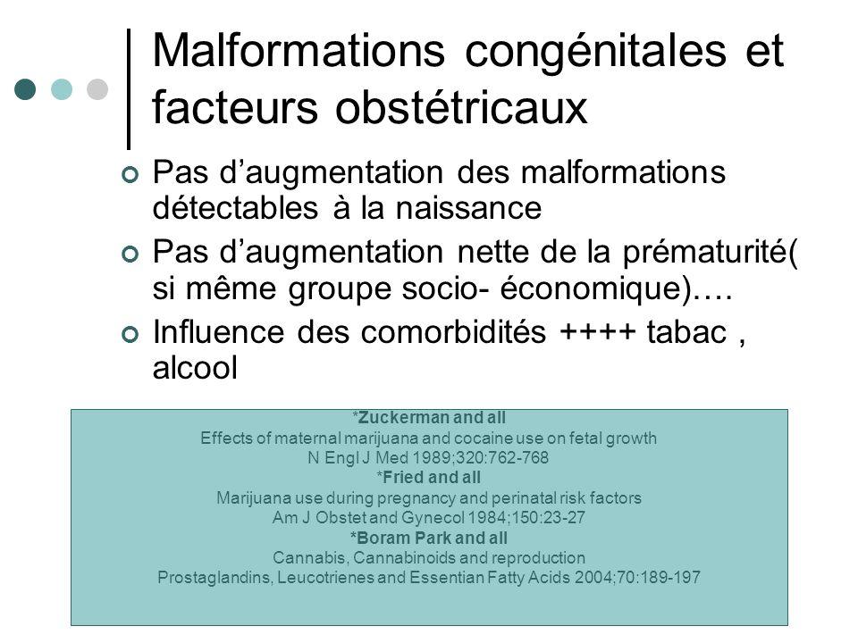 Malformations congénitales et facteurs obstétricaux