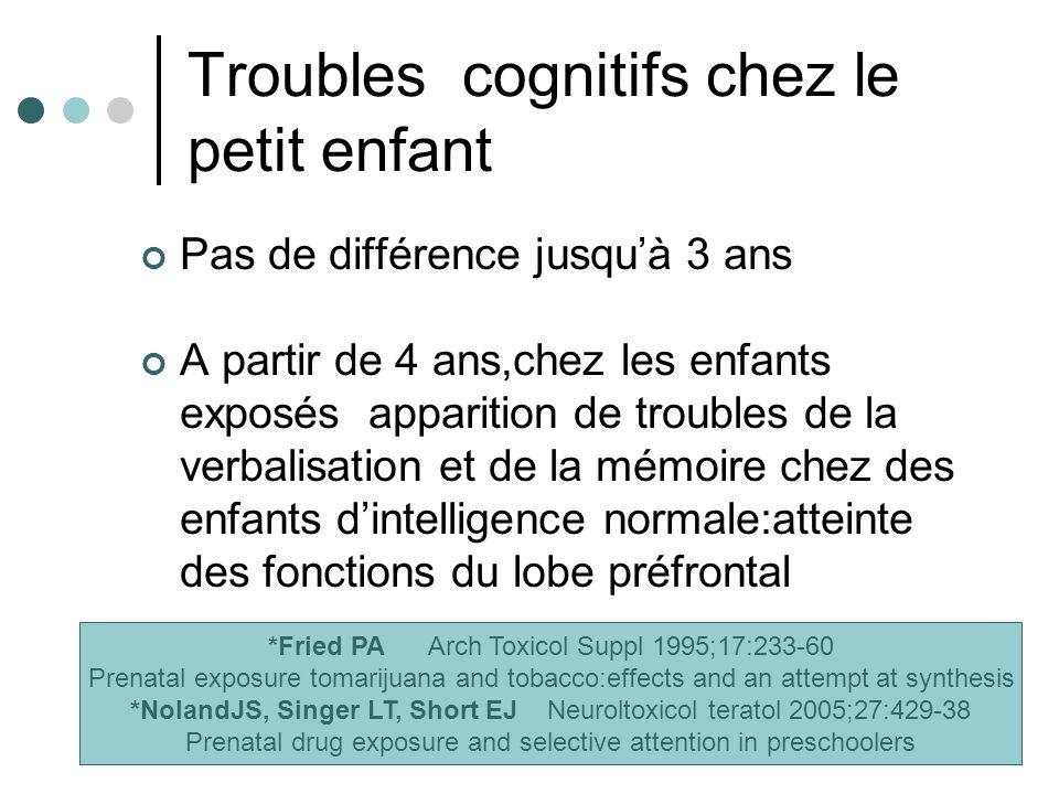 Troubles cognitifs chez le petit enfant