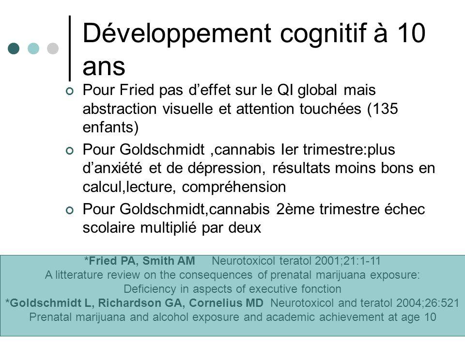 Développement cognitif à 10 ans
