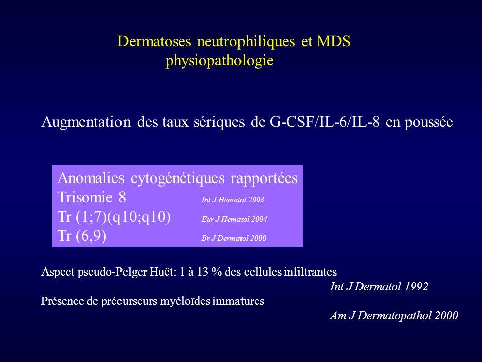 Dermatoses neutrophiliques et MDS physiopathologie