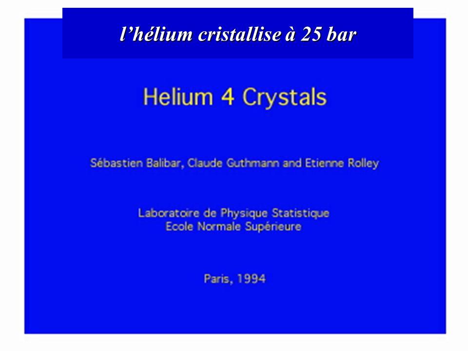 l'hélium cristallise à 25 bar