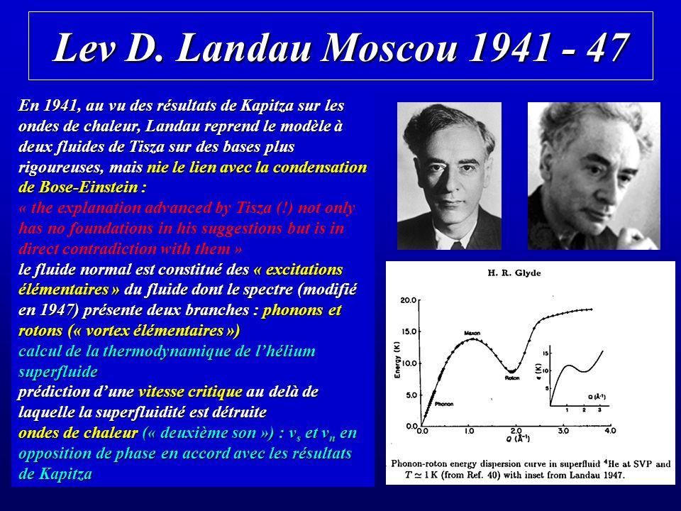 Lev D. Landau Moscou 1941 - 47