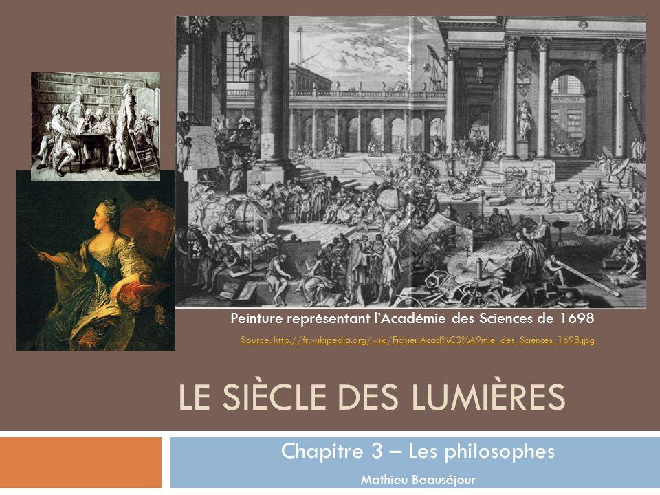 Chapitre 3 – Les philosophes Mathieu Beauséjour