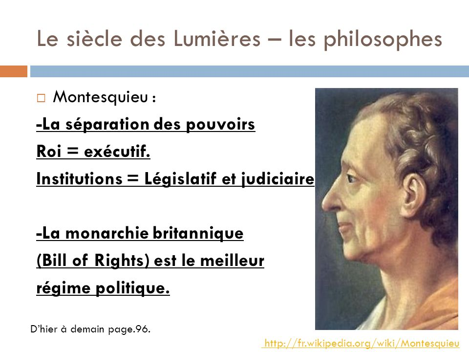 Le siècle des Lumières – les philosophes