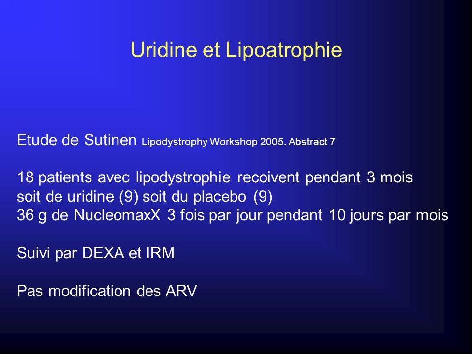 Uridine et Lipoatrophie