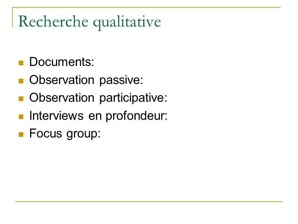 Recherche qualitative