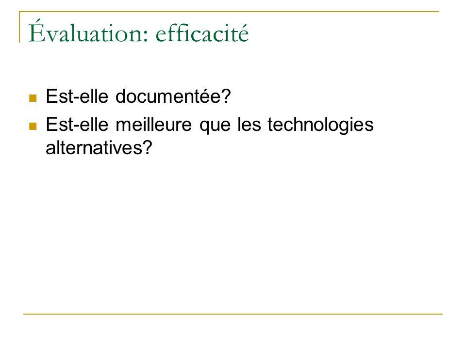 Évaluation: efficacité