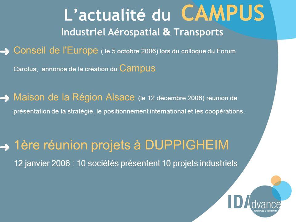 L'actualité du CAMPUS Industriel Aérospatial & Transports