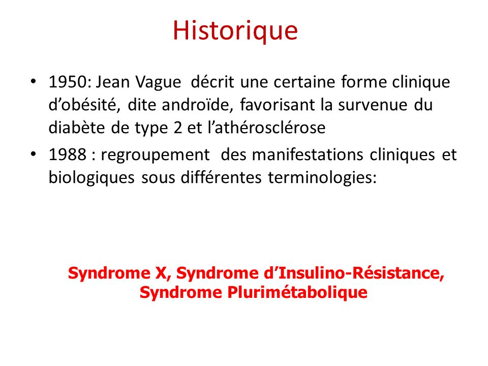 Syndrome X, Syndrome d'Insulino-Résistance, Syndrome Plurimétabolique