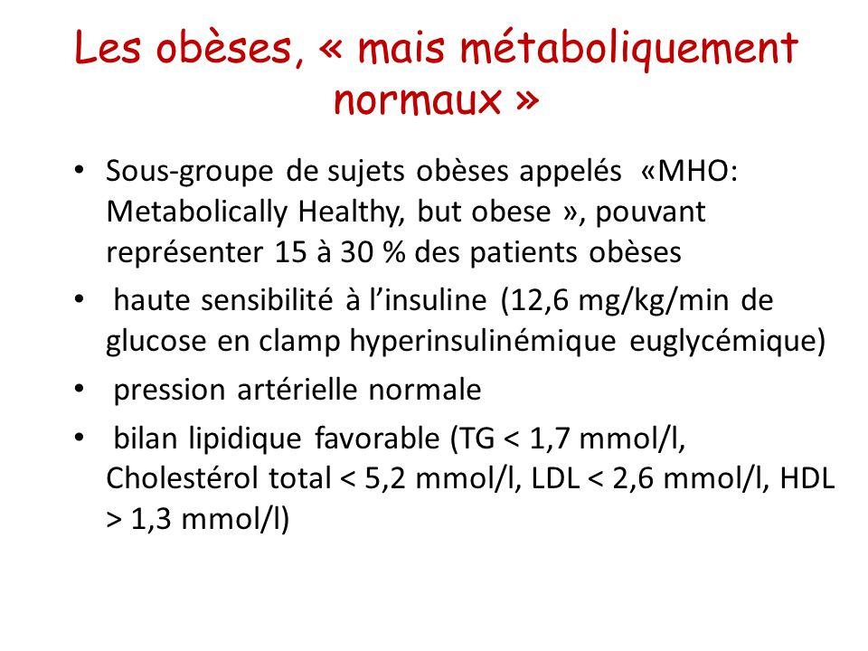 Les obèses, « mais métaboliquement normaux »