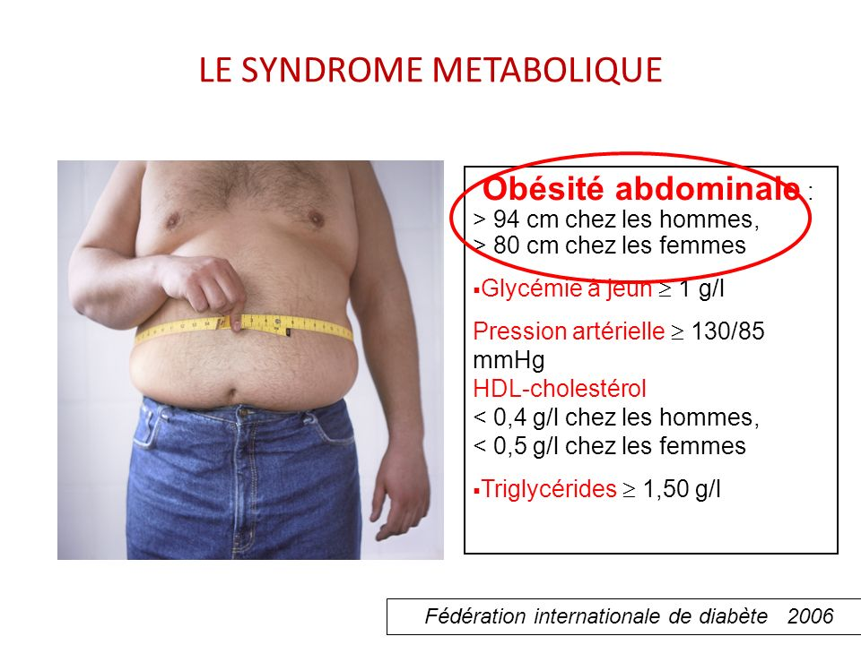 LE SYNDROME METABOLIQUE