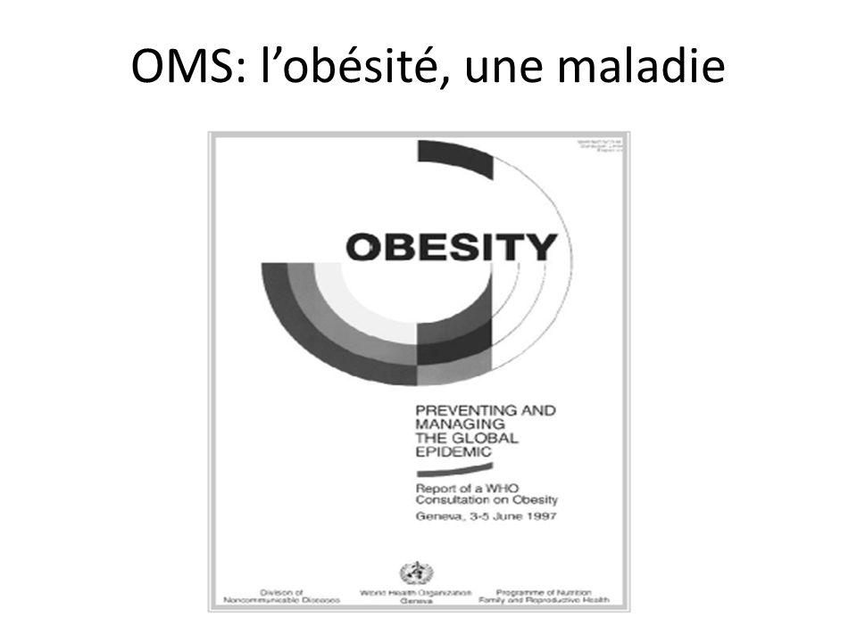 OMS: l'obésité, une maladie