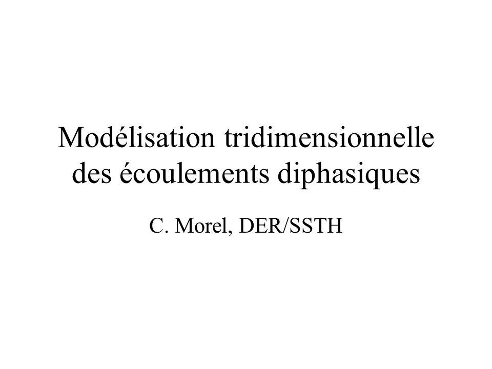 Modélisation tridimensionnelle des écoulements diphasiques