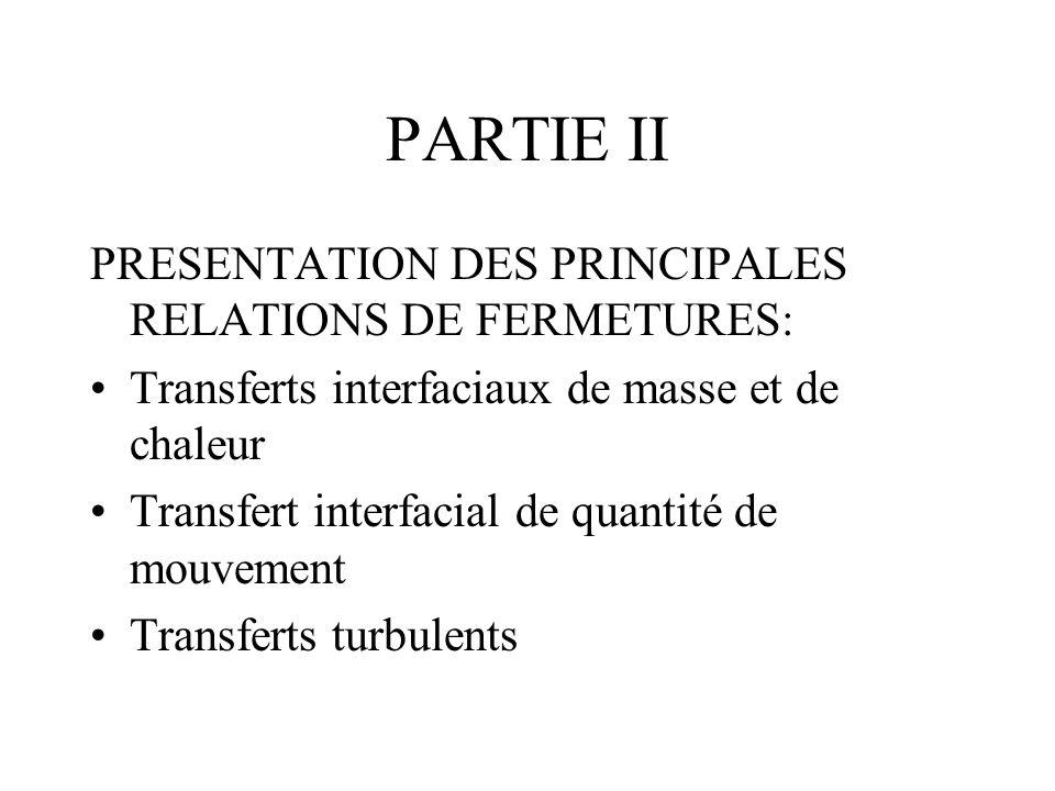 PARTIE II PRESENTATION DES PRINCIPALES RELATIONS DE FERMETURES: