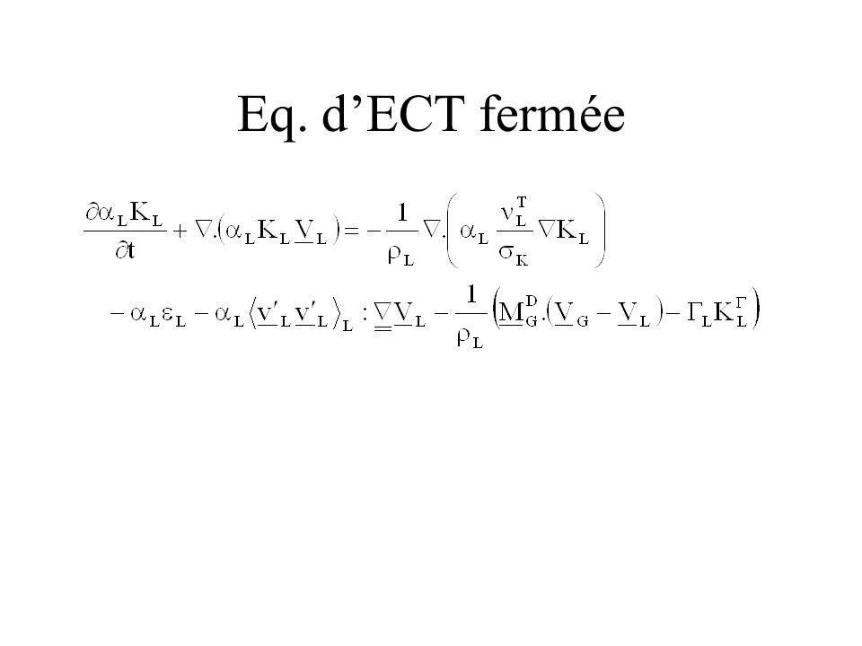 Eq. d'ECT fermée