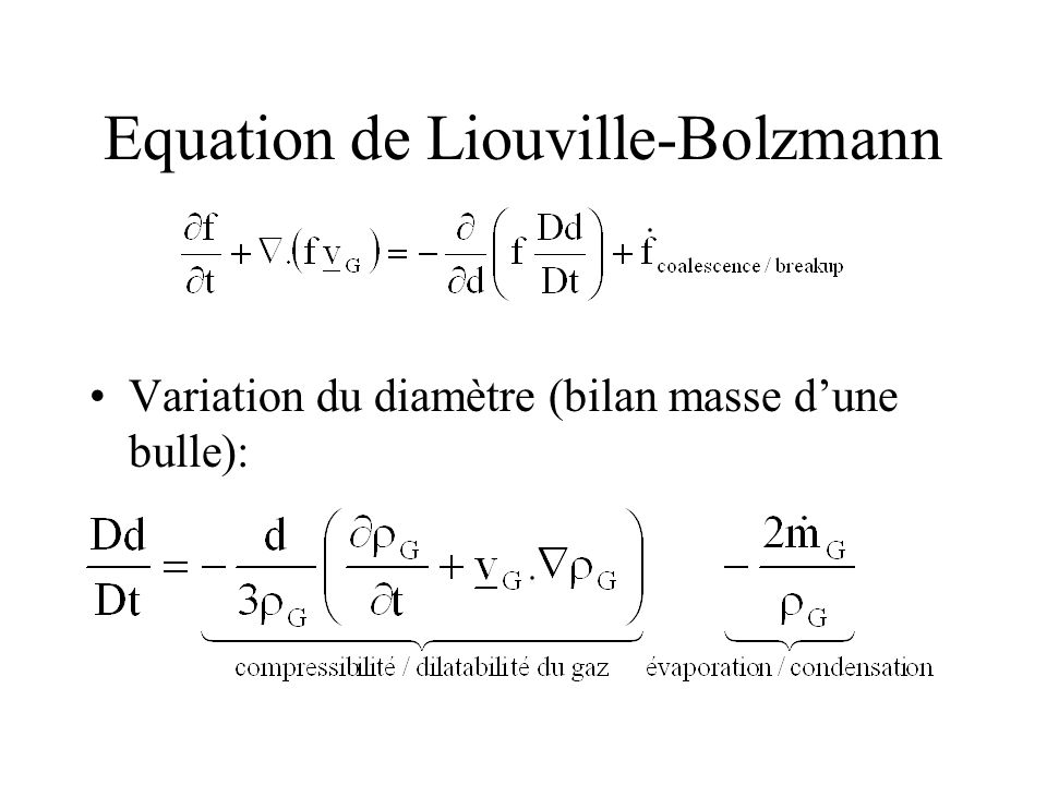Equation de Liouville-Bolzmann