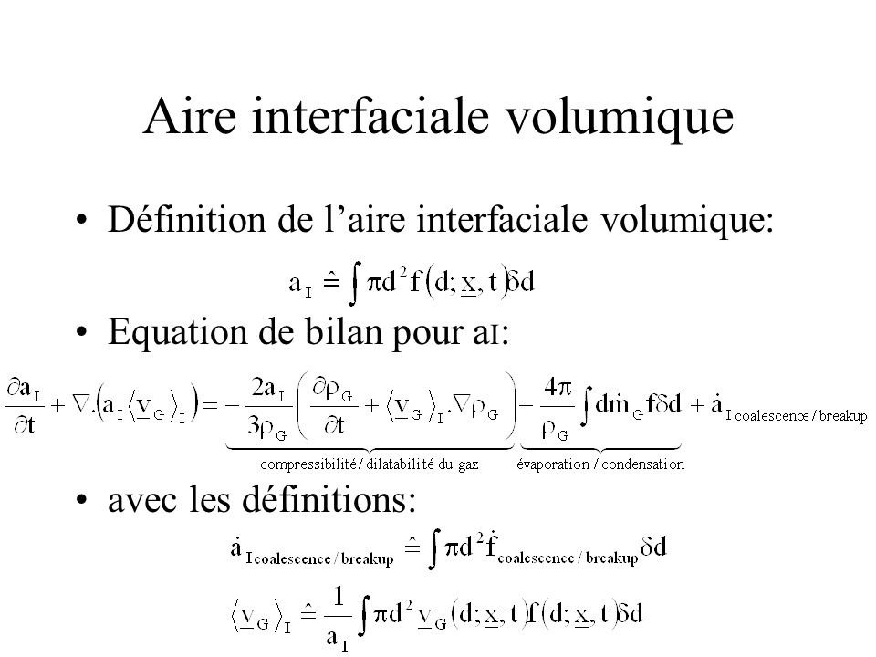 Aire interfaciale volumique