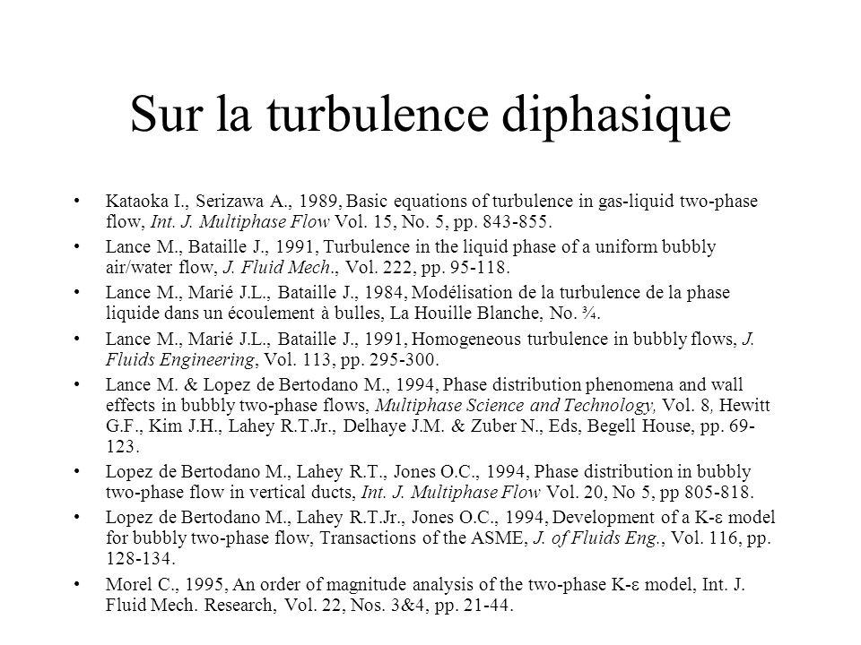 Sur la turbulence diphasique