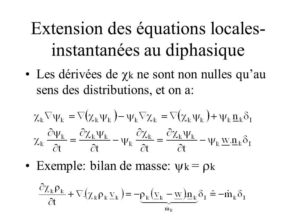 Extension des équations locales-instantanées au diphasique