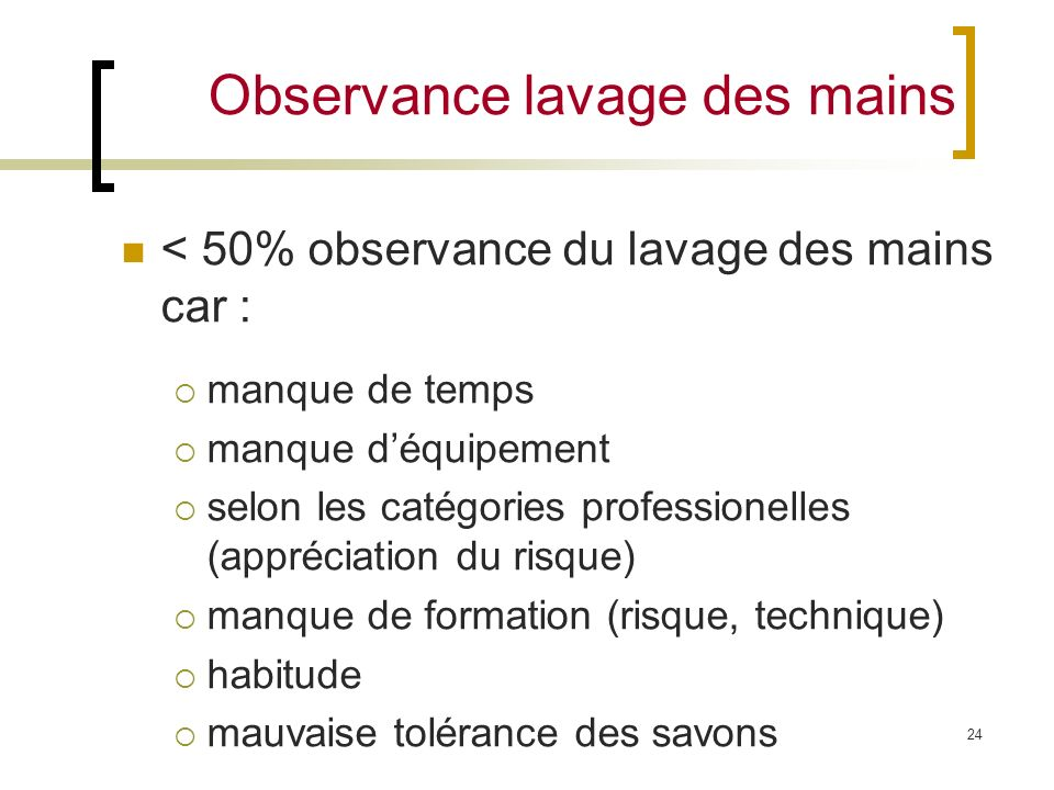 Observance lavage des mains