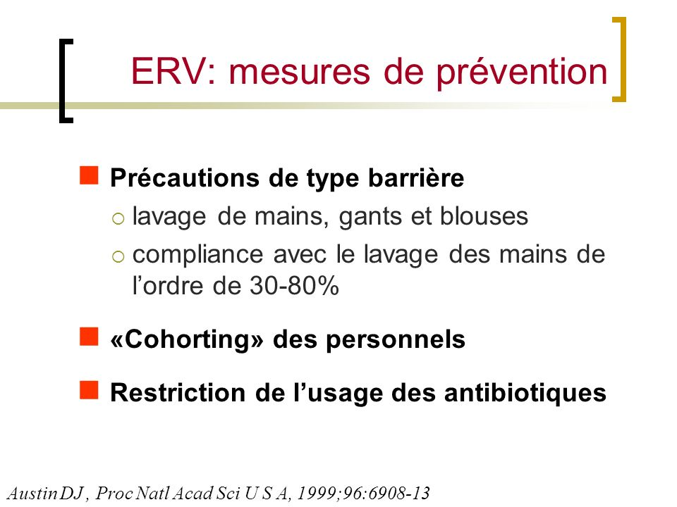 ERV: mesures de prévention