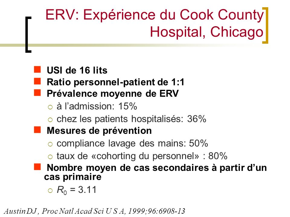 ERV: Expérience du Cook County Hospital, Chicago