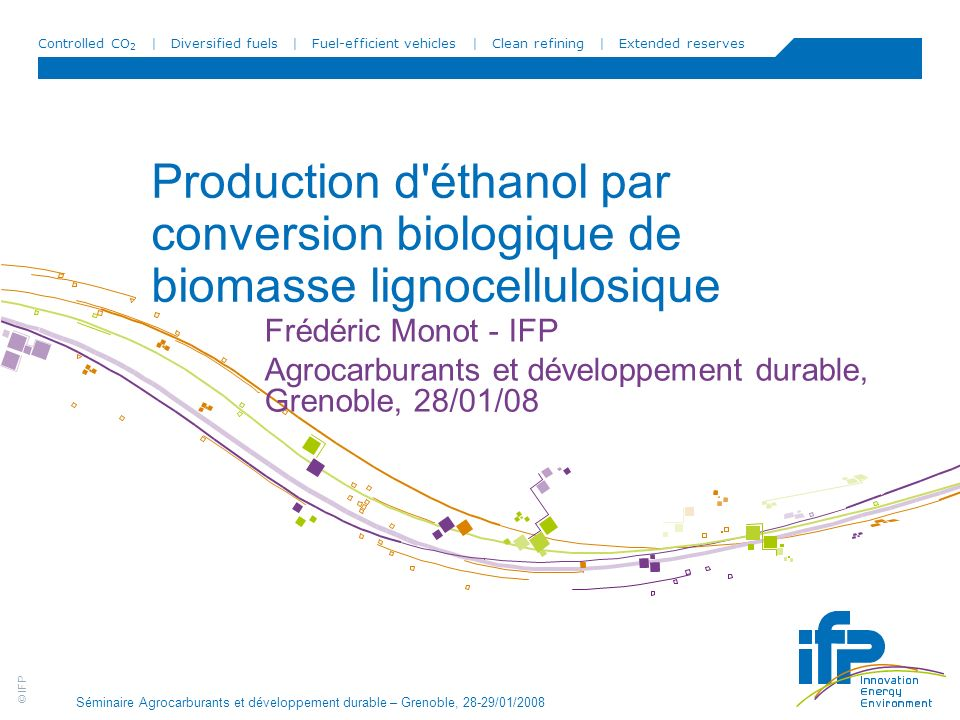 Production d éthanol par conversion biologique de biomasse lignocellulosique
