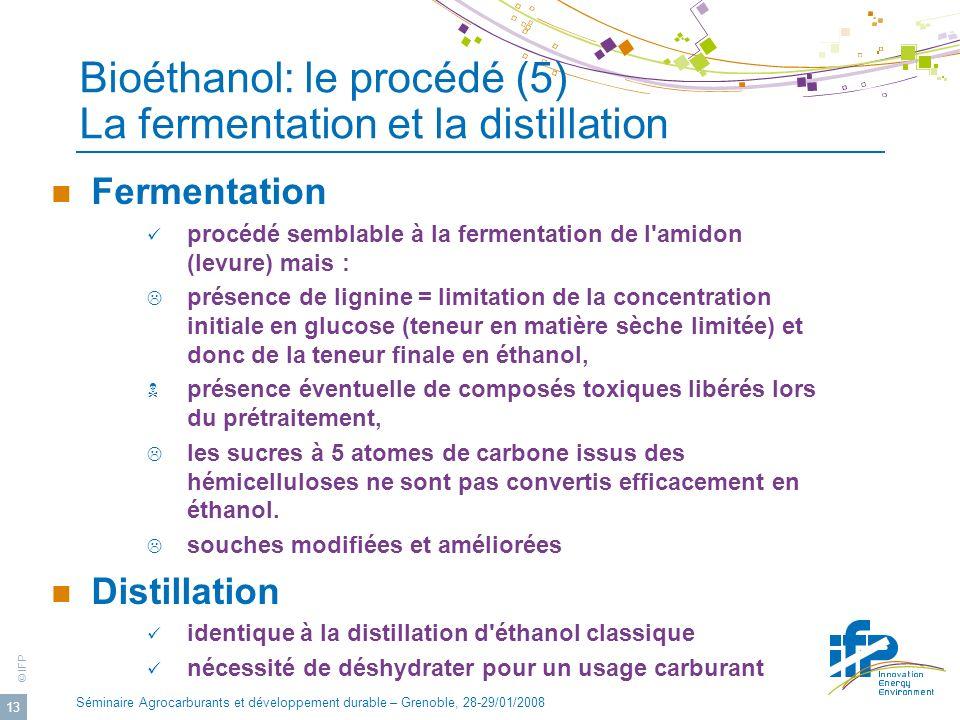 Bioéthanol: le procédé (5) La fermentation et la distillation