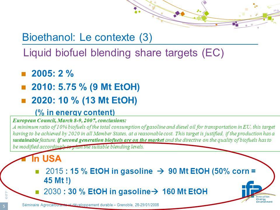 Bioethanol: Le contexte (3)
