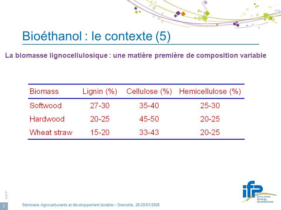 Bioéthanol : le contexte (5)