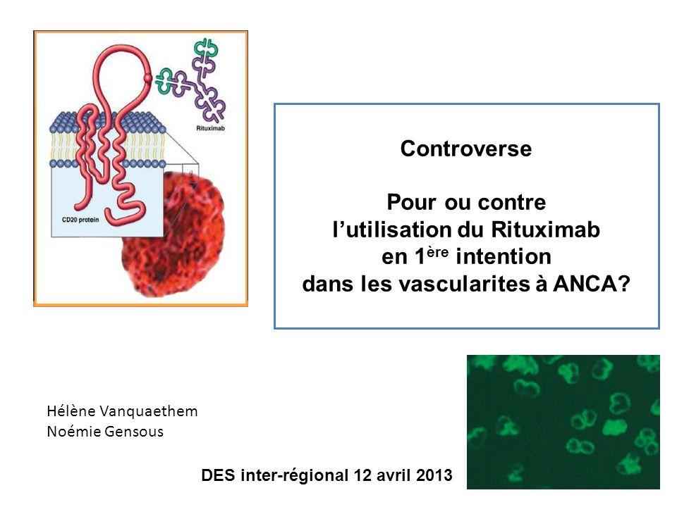 l'utilisation du Rituximab dans les vascularites à ANCA
