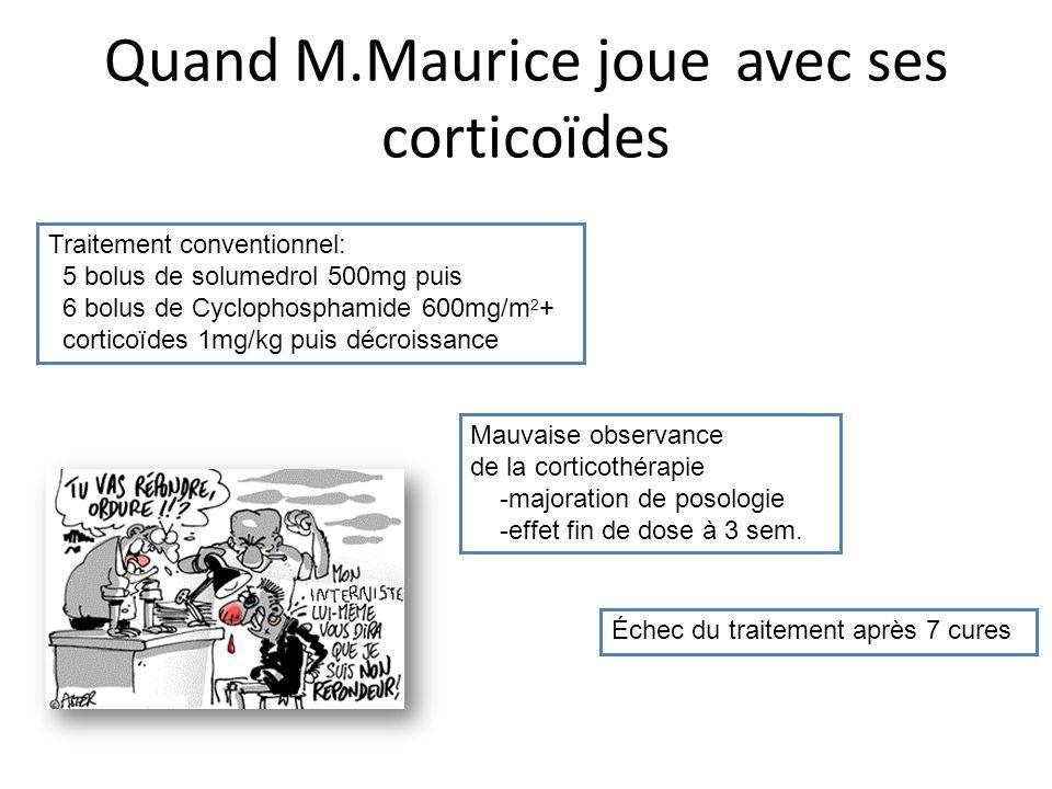 Quand M.Maurice joue avec ses corticoïdes