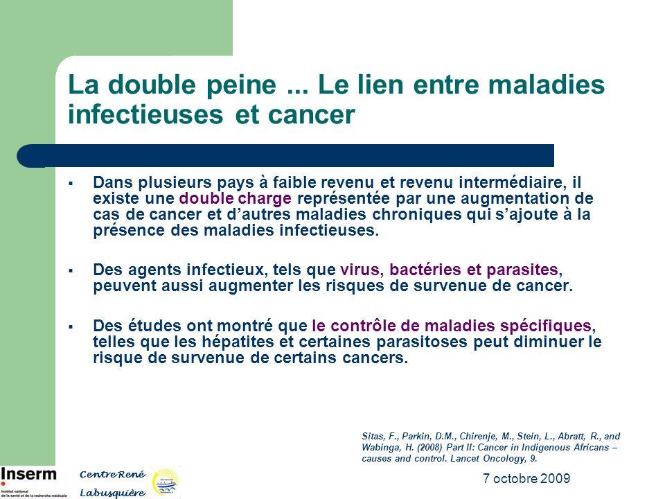 La double peine ... Le lien entre maladies infectieuses et cancer