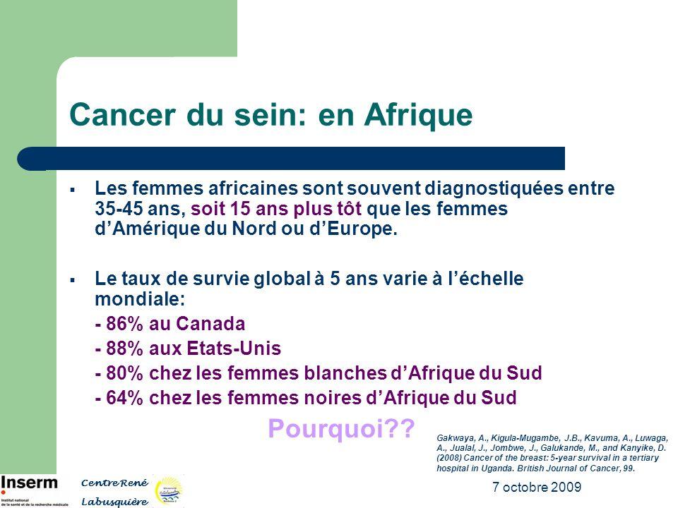 Cancer du sein: en Afrique