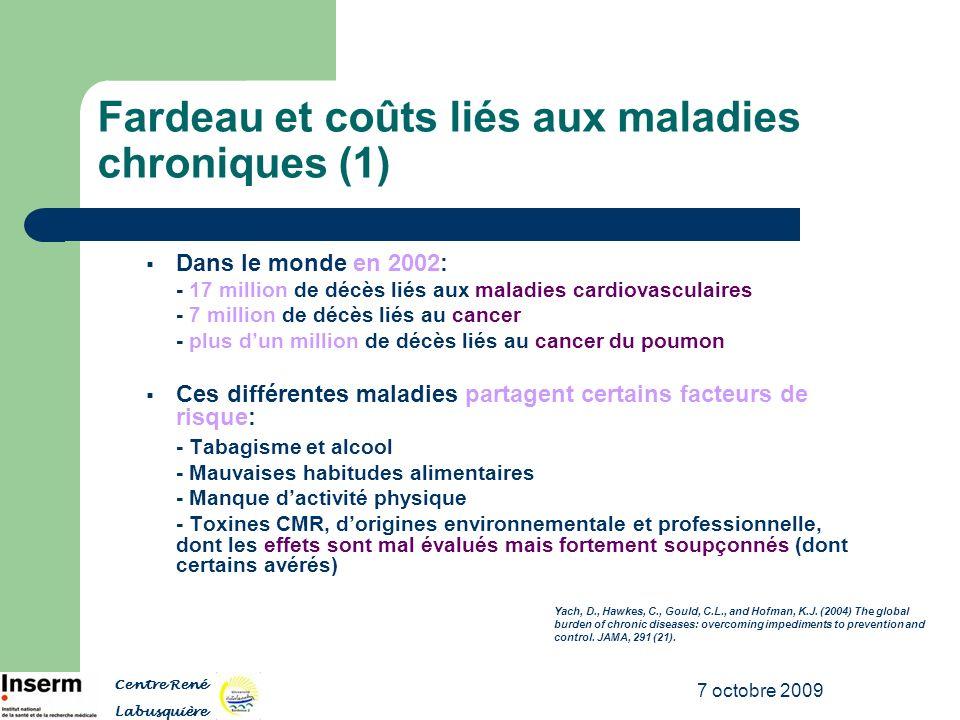 Fardeau et coûts liés aux maladies chroniques (1)