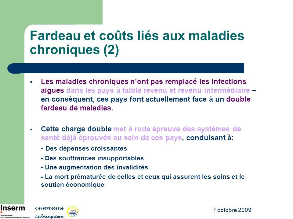 Fardeau et coûts liés aux maladies chroniques (2)