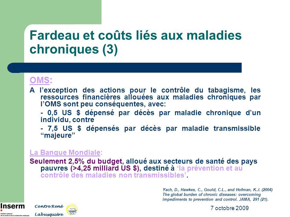 Fardeau et coûts liés aux maladies chroniques (3)