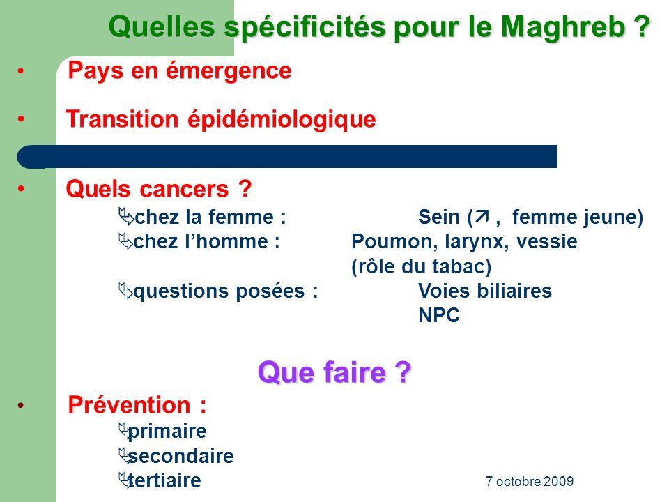 Quelles spécificités pour le Maghreb