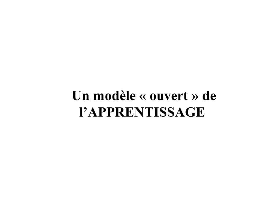 Un modèle « ouvert » de l'APPRENTISSAGE