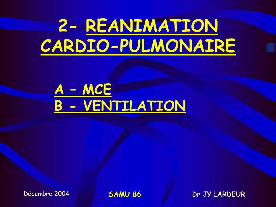 2- REANIMATION CARDIO-PULMONAIRE
