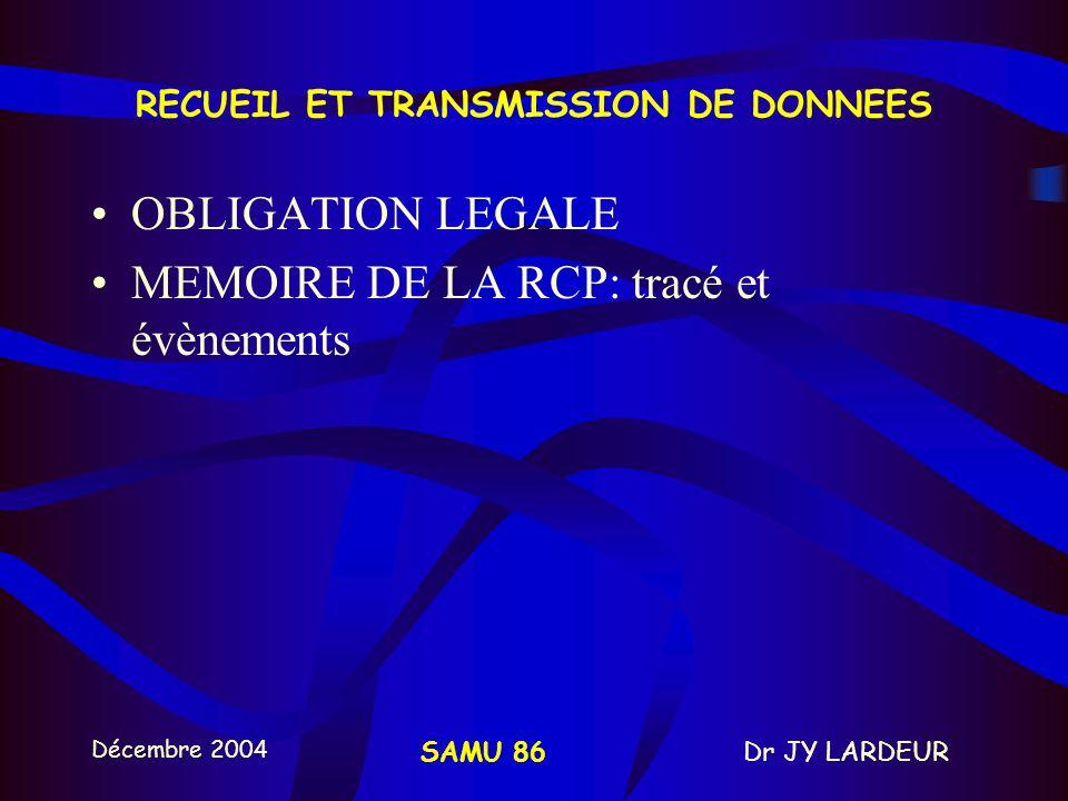 RECUEIL ET TRANSMISSION DE DONNEES